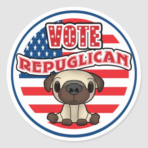 Funny Republican Presidential Election Stickers