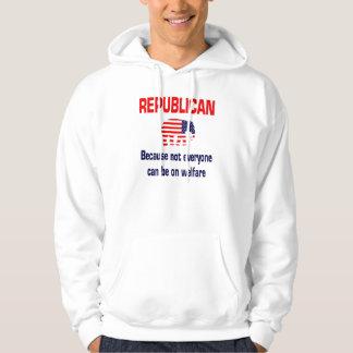Funny Republican Welfare Hooded Sweatshirt