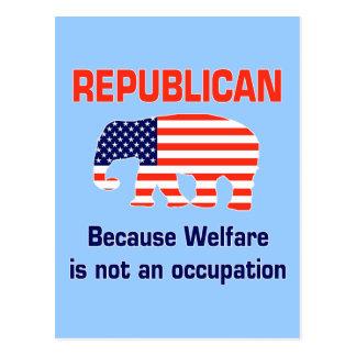 Funny Republican - Welfare Postcard