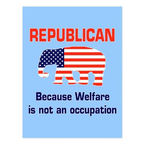 Funny Republican - Welfare Postcards