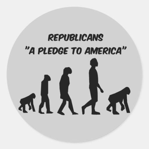 Funny Republicans Classic Round Sticker