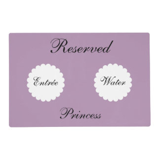 Funny Reserved Personalized Pet Placemat - Purple Laminated Placemat