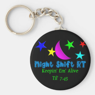 Funny Respiratory Therapist Gifts and T-Shirts Basic Round Button Keychain