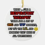 Funny Respiratory Therapist ... OMG WTF LOL Christmas Tree Ornament