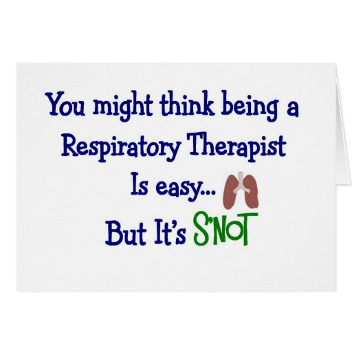 Funny Respiratory Therapy Gifts Card