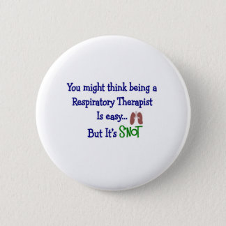 Funny Respiratory Therapy Gifts Pinback Button