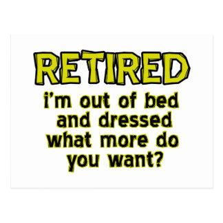 Funny retired designs postcard