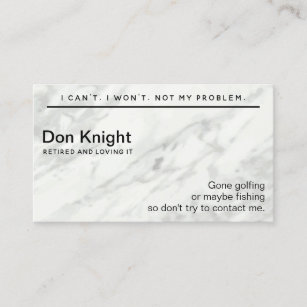 Funny Business Cards Zazzle