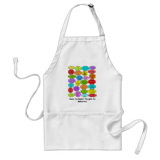 Funny Retired Nurse Gifts Co-Worker Thoughts Adult Apron