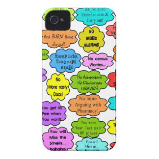 Funny Retired Nurse Gifts Co-Worker Thoughts iPhone 4 Case