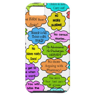 Funny Retired Nurse Gifts Co-Worker Thoughts iPhone SE/5/5s Case