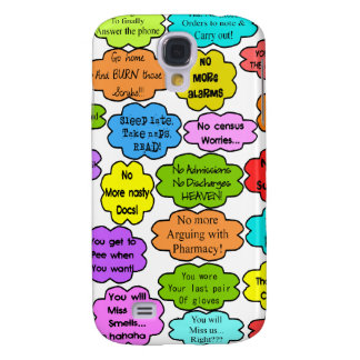 Funny Retired Nurse Gifts Co-Worker Thoughts Samsung Galaxy S4 Cover