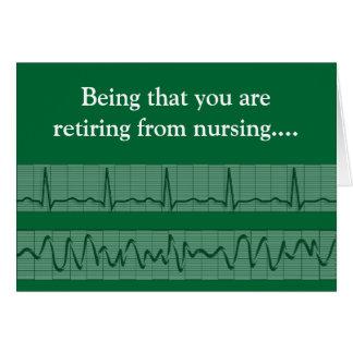 Funny Retired Nurse Greeting Card 2