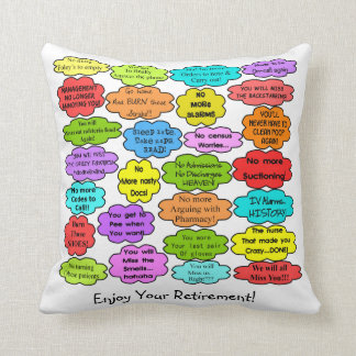 Funny Retired Nurse Pillow Co-Worker Thoughts