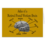 Funny Retired Postal Worker T-Shirts and Gifts Greeting Card
