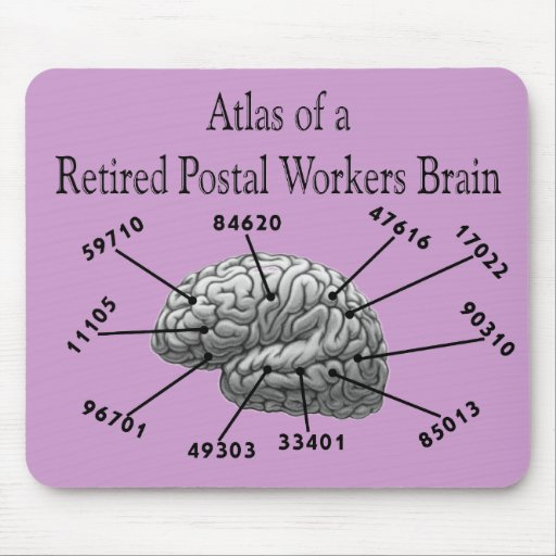 Funny Retired Postal Worker T-Shirts and Gifts Mouse Pad