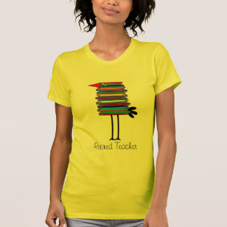 Funny Retired Teacher Book Bird T-Shirt