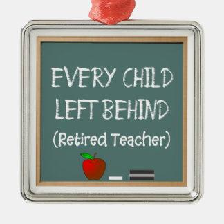 Funny Retired Teacher Christmas Ornament