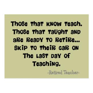 Funny Retired Teacher Gifts Postcard