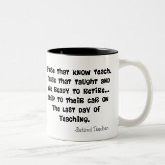 Funny Retired Teacher Gifts Two-Tone Coffee Mug
