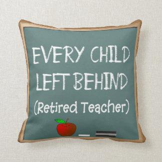 Funny Retired Teacher's Chalk Board Design Pillow