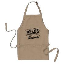 Funny retirement BBQ apron | Under new management