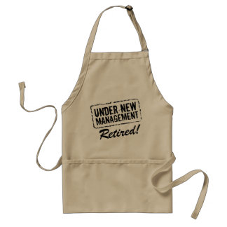 Funny retirement BBQ apron | Under new management