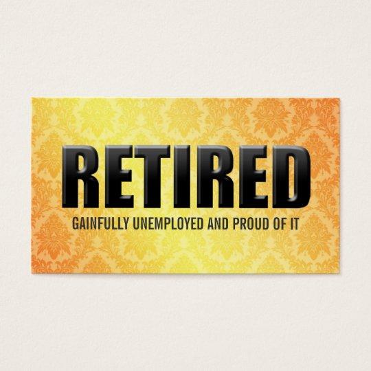 Funny Retirement Business Cards Zazzle Com