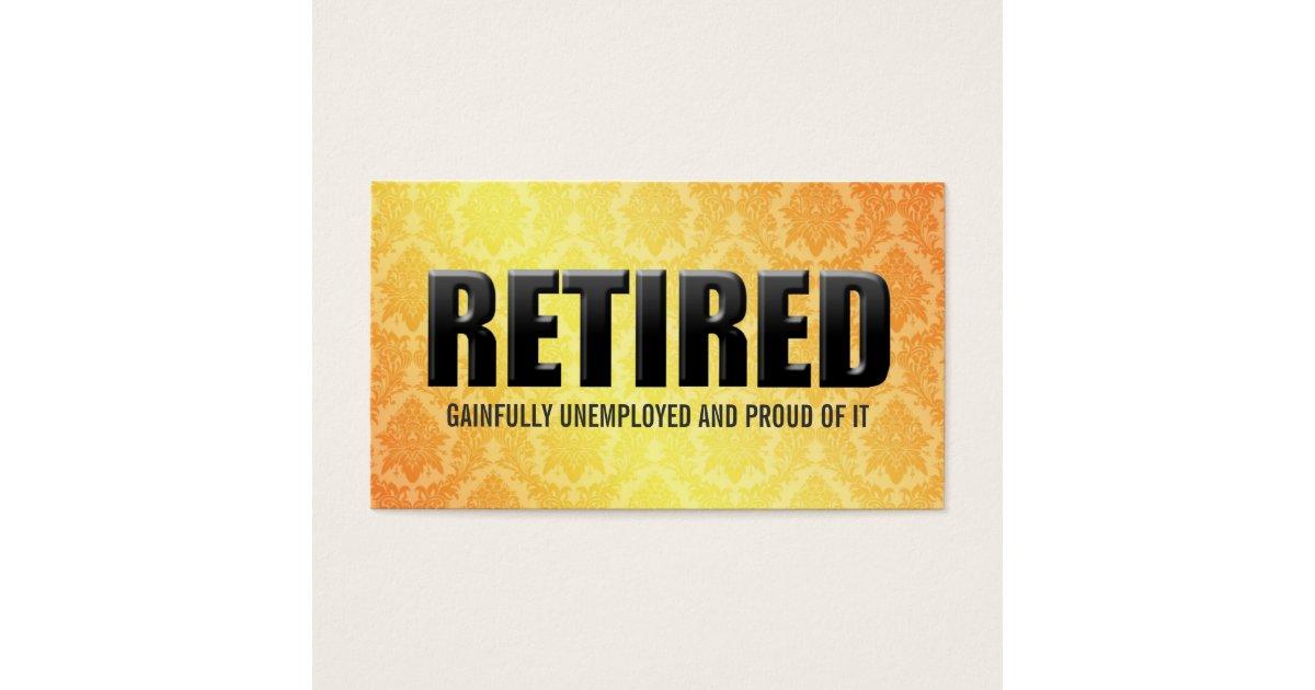 Funny Retirement Business Cards | Zazzle.com