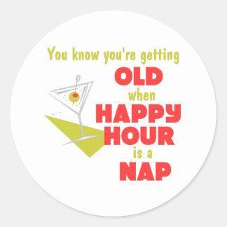 Funny Retirement Gift Classic Round Sticker