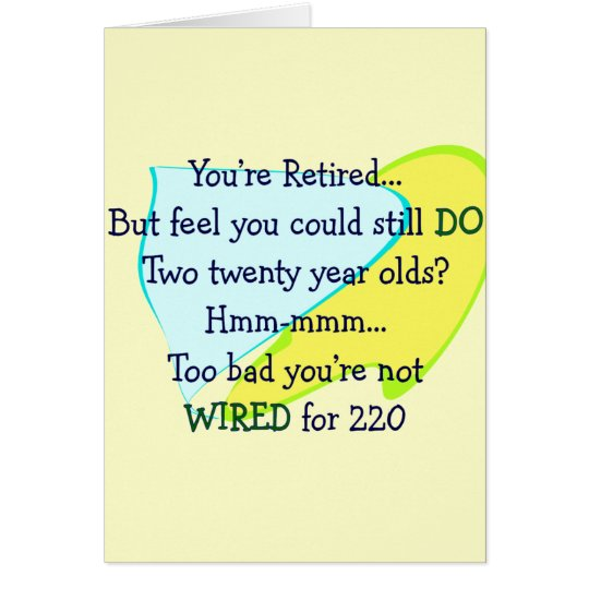 Funny Retirement gifts Card