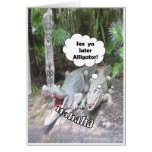 Funny RETIREMENT greeting card alligators