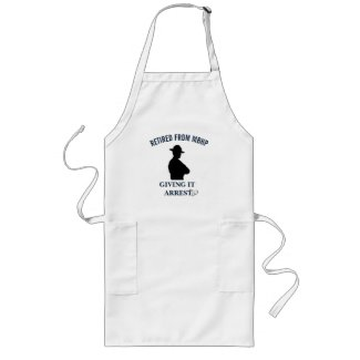 Funny Retirement Highway Patrol Long Apron