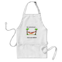 Funny retirement humor adult apron