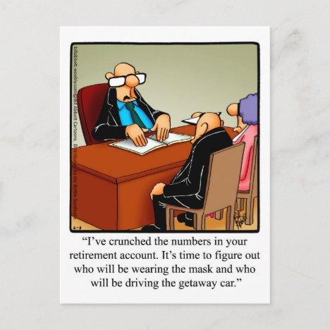 "Funny Retirement Humor Postcard ""Spectickles"""