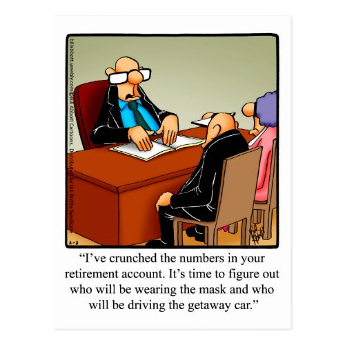Funny Retirement Humor Postcard Spectickles