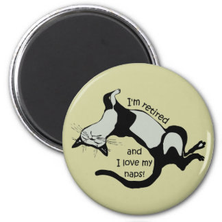 funny retirement 2 inch round magnet