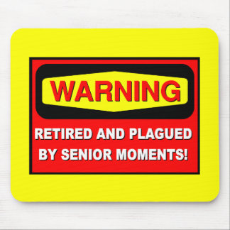 Funny retirement mouse pad