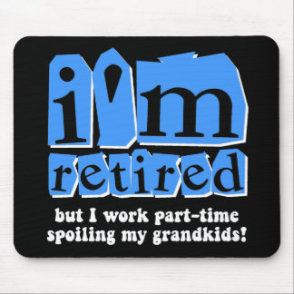 Funny retirement mouse pads