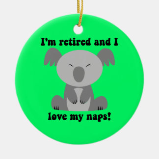 Funny retirement Double-Sided ceramic round christmas ornament