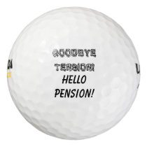 Funny retirement party golf ball gift set