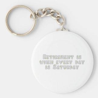 Funny Retirement Saying Basic Round Button Keychain
