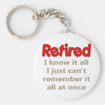 Funny Retirement Saying Keychains