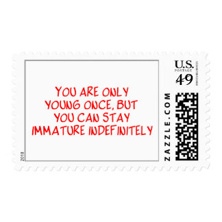 Funny Retirement Saying Postage Stamp