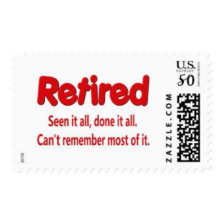 Funny Retirement Saying Postage