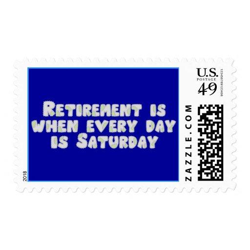 Funny Retirement Saying Postage Stamp