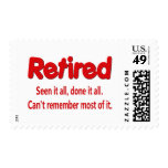 Funny Retirement Saying Stamp