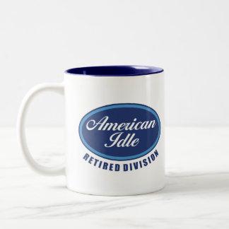 Funny Retirement/Senior Citizen Gift Two-Tone Coffee Mug