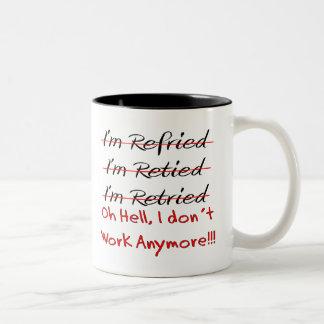 Funny Retirement Shirts and Gifts Two-Tone Coffee Mug