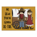 Funny Retirement Thoughts - Western Humor Greeting Cards